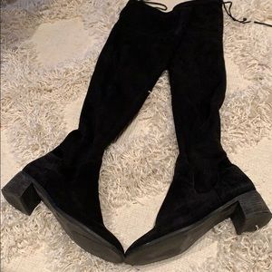 Free People over the knee suede boots